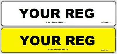 Pair of Plain 3D Font MOT UK Road Legal Car Van Reg Registration Number Plates