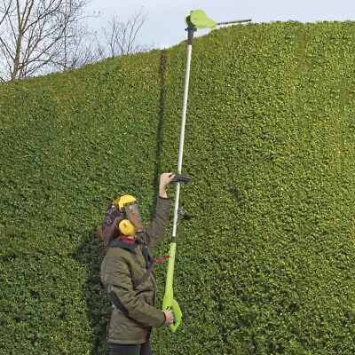 Cordless Telescopic Hedge Trimmer 18V Adjustable Pole & Head NEW by Garden Gear