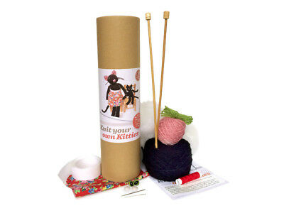 The Crafty Kit Company | Knit Your Own Kitties Kit | Makes Two | CKC-KK-053
