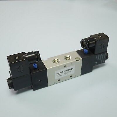 "1/4"" Pneumatic 5/2 Way Electric Control Solenoid Valve 4V320-08 110V Double Coil"