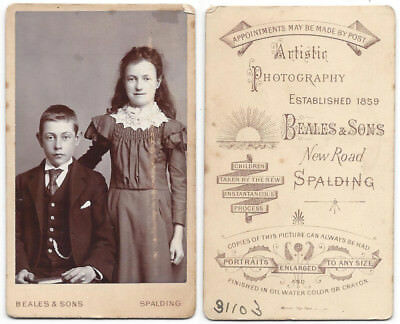 CDV Victorian Children Carte De Visite By Beales Of Spalding