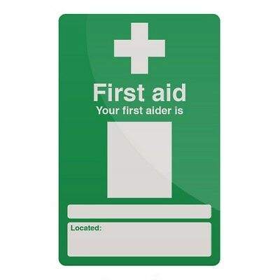 Fixman 735470 Your First Aider Sign 200 x 300mm Self-Adhesive