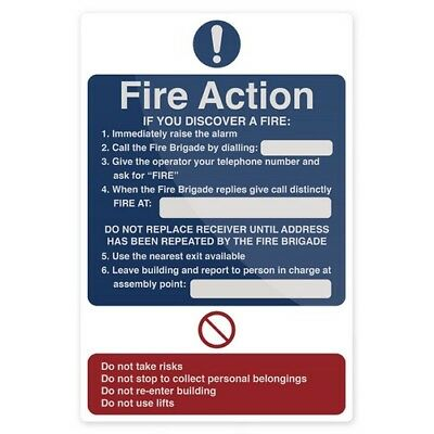 Fixman 955117 Fire Action If You Discover Sign 200 x 300mm Self-Adhesive