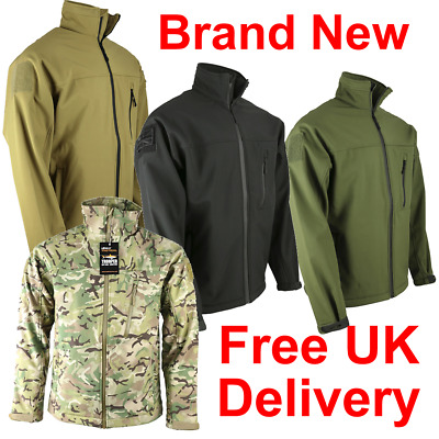 KOMBAT UK TROOPER SOFT SHELL Tactical Recon Spec Ops JACKET Layer Shark Skin