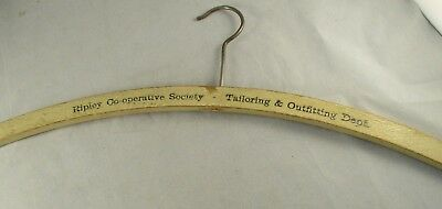 VINTAGE WOODEN COAT HANGER - Ripley Co-operative Society  Tailoring & Outfiting