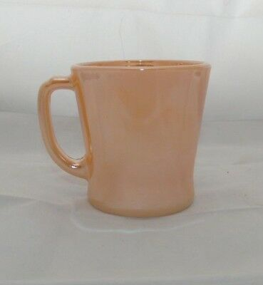 Vintage Anchor Hocking Fire King Peach Luster D Handle Coffee Mug Cup