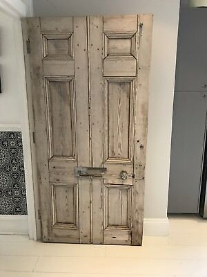 Large wooden French antique door