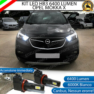 Kit Full Led Opel Mokka X Lampade Abbaglianti Led Hb3 9006 6000K No Error