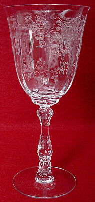 """FOSTORIA crystal MEADOW ROSE 6016 pattern WATER GOBLET or GLASS 7-5/8"""""""
