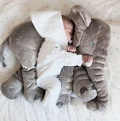 Baby Children Elephant Pillow Long Nose Plush Soft Toy Animal Fast Dispatch UK
