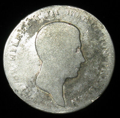1813-A German State Prussia 1/6 Thaler silver coin