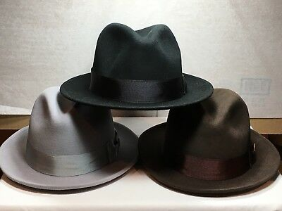New with Tag Stacy Adams SAW610 Wool/Cashmere Blend Fedora Men's Hat