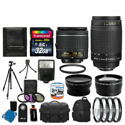 Nikon 18-55mm VR & 70-300mm Lens for D3400 - Custom Bundle!