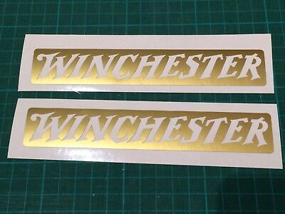 Winchester Shotgun Rifle  x2 Sticker Hunting clay Pigeon shooting