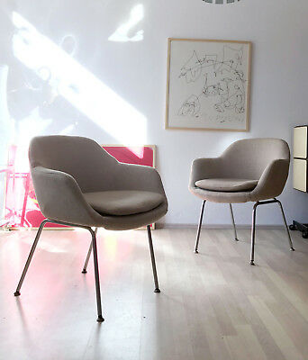 1of2 VINTAGE 50s 60s MID CENTURY CONFERENCE CHAIR BY EERO SAARINEN FOR KNOLL