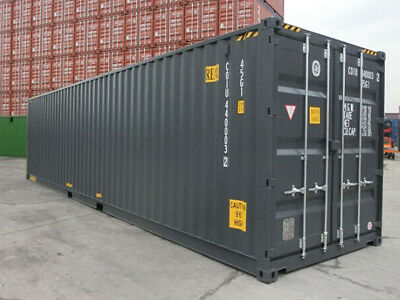 """40ft high cube  (9´6 high) New """"One-trip"""" shipping container, Newark, New Jersey"""
