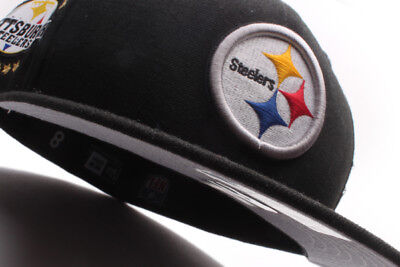 ... italy pittsburgh steelers new era 59fifty fitted hat tribute turn black  yellow 421f6 cb574 11b576d6a189