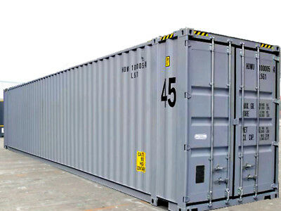 """45ft high cube  (9´6 high) New """"One-trip"""" shipping container, New York, New York"""