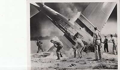 Vintage 1941 photo of the USA Air Force testing Plane Crash Rescue
