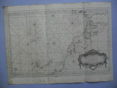Big map Costes Occidentales D'Afrique and Canarias. (maps islands Canaries)
