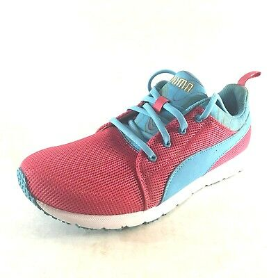 49c5dd9cd524 Puma Carson Runner Mesh Unisex Trainers Running Lace Shoes Pink Womens 7C  Narrow