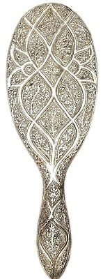 Silver Hand Mirror Vintage Handmade Carved Designed Decorative Collectibles 1940