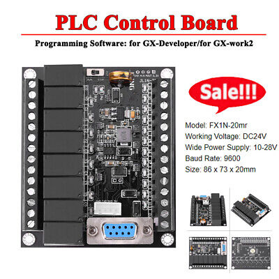 24V PLC Regulator FX1N-20MR Industrial Control Board Programmable Controller inm