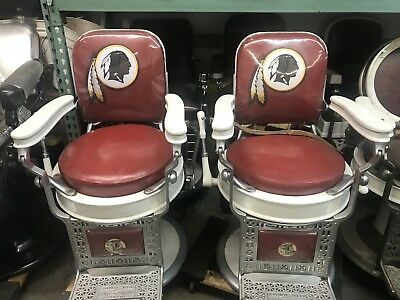 Matching Set Of Antique Theo A. Koch Barber Chairs