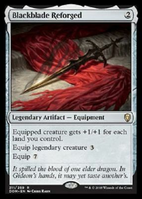Presale Blackblade Reforged NM Dominaria MTG Magic The Gathering Artifact Eng
