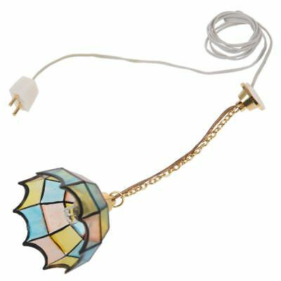 Doll house miniature beautiful color ceiling lamp light Hanging lamps O7B7
