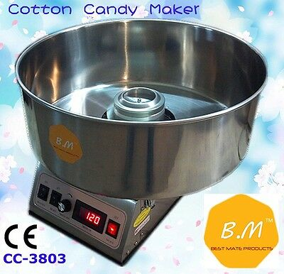 New B.M CC-3803 1100W Electric Commercial Cotton Candy Floss Machine Maker