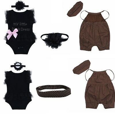 Infant Toddler Baby Girl Romper Jumpsuit Bodysuit Sunsuit Outfit Clothes 0-24M