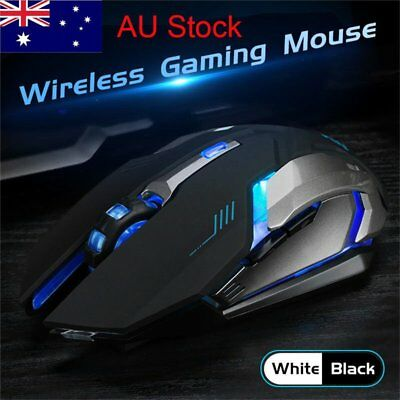 X7 Wireless Silent LED Backlit Optical Ergonomic Gaming Mouse Rechargeable Lot G