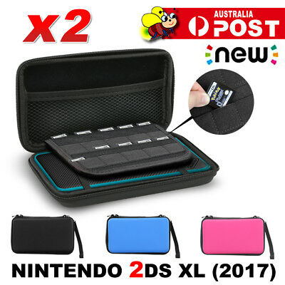 2x EVA Hard Carrying Case Pouch Bag For New Nintendo 2DS XL/LL Console 2017 OZ