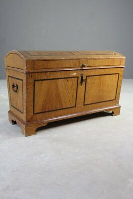 Rustic Antique Painted Pine Effect Dome Top Trunk Blanket Box