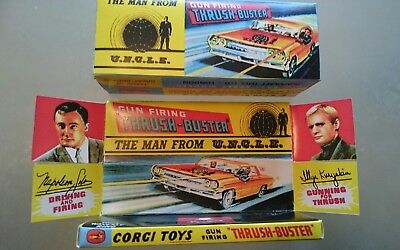 Corgi 497 Man From Uncle Thrush Buster Oldsmobile Repro Box And Tray Only