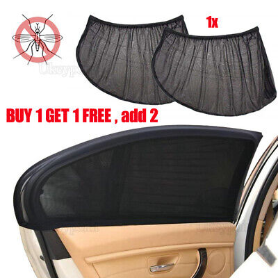 2PCS Car Sun Shade Cover Blind Mesh Rear Side Window Kid UV Protection LARGE