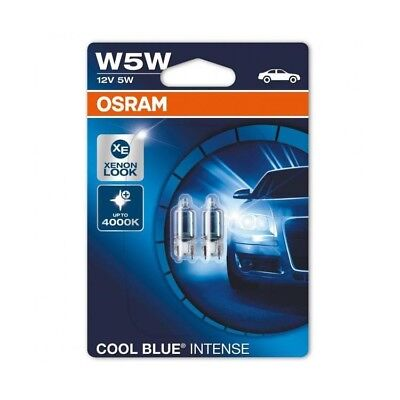2x Genuine Osram Cool Blue Intense W5W (501) 5w 12v bulbos efecto de xenón