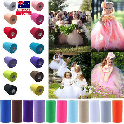 1/2/4/PCS Roll Spool Fabric Tulle Dress Craft Party Wedding Wrap Decor Gift