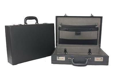 Professional Leather Look Executive Black Briefcase with Combination Locks 6910