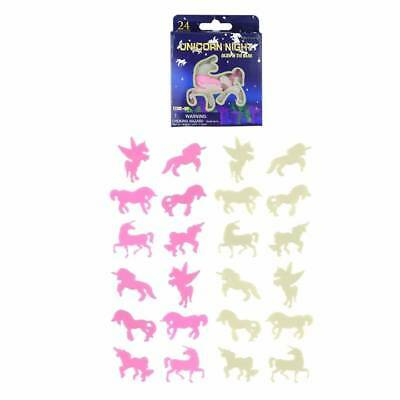 Unicorn Glow In The Dark Stickers Ceiling Wall Girls Room Decor Stocking Filler