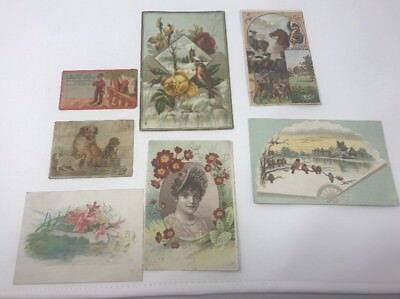 Lot of 7 Advertisement Trade Cards Coffee Dilworth's Cordova Jersey Card