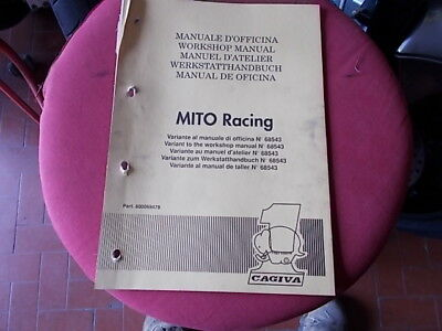 MANUALE OFFICINA CAGIVA 125 MITO LUCKY 91 RACING Cartaceo