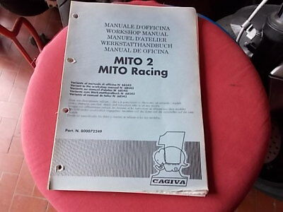 MANUALE OFFICINA CAGIVA 125 MITO 2 1992 RACING Cartaceo