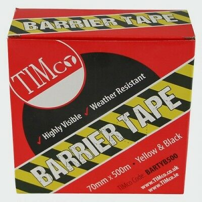 TIMco BARTYB500 PE Barrier Tape Yellow / Black 500m x 70mm