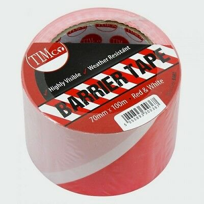 TIMco BART PE Barrier Tape Red / White 100m x 70mm