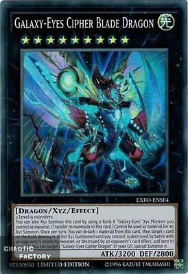 Yugioh Galaxy-Eyes Cipher Blade Dragon EXFO-ENSE4 Super Rare Near Mint Promo