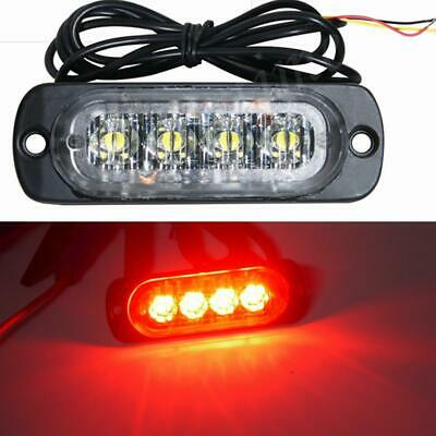 5pcs Red 4LED 4W Car Truck Emergency Beacon Hazard Strobe Warning Light Lamp