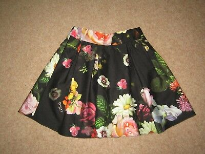 Ted Baker Girl's Gorgeous Colourful Skirt -lined & elasticated waist Age 8 years
