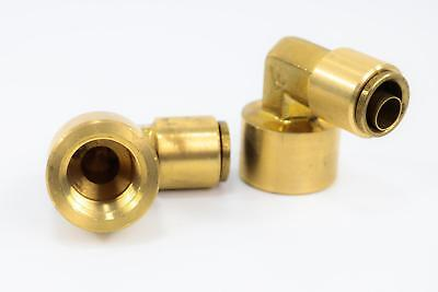 """(1) Brass Push-to-Connect Elbow, 90 Degree, Female - 1/2"""" x 1/2"""""""